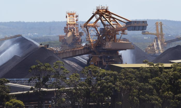 Coal operations at the Port of Newcastle, Australia, on Nov. 18, 2015. (William West/AFP/Getty Images)