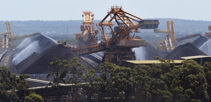 Coal operations at the Port of Newcastle, Australia, on Nov. 18, 2015. Australia plans to dramatically ramp up coal exports—which is the nation's second most valuable export—to boost economic growth over the next decade. (William West/AFP/Getty Images)