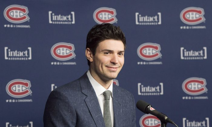 Montreal Canadiens' goaltender Carey Price speaks to the media after winning the Lou Marsh award as Canada's Athlete of the Year in Montreal on Dec. 15. (The Canadian Press/Ryan Remiorz)