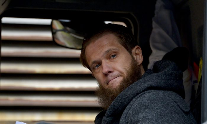 Radical Islamic convert Sven Lau supports Salafis at a public gathering on March 14, 2015 in Wuppertal, Germany. He was arrested on December 15, 2015. (Sascha Schuermann/Getty Images)