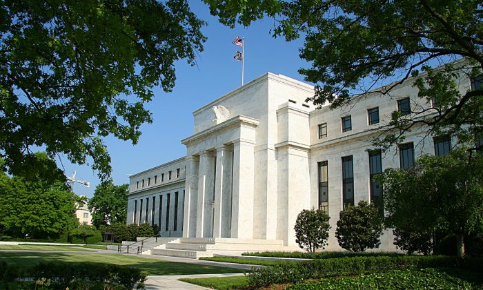 The Federal Reserve building in Washington, D.C., on May 4, 2008. (Karen Bleier/AFP/Getty Images)