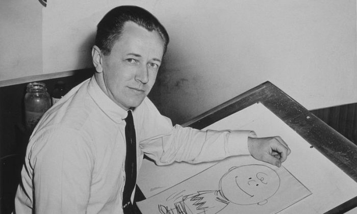 """""""Peanuts"""" creator Charles Schulz (Library of Congress)"""