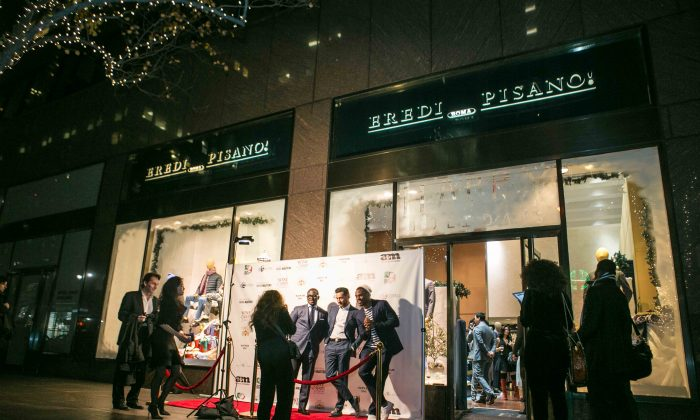 The 14th anniversary celebration of Eredi Pisano boutique on Madison Avenue in New York on Dec. 8, 2015. (Benjamin Chasteen/Epoch Times)
