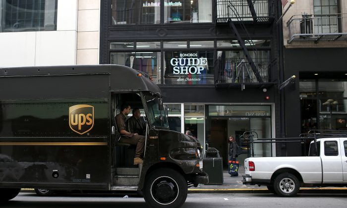 A UPS truck is seen in San Francisco. Business-to-business marketing and sales are now more complex than ever. (Justin Sullivan/Getty Images)