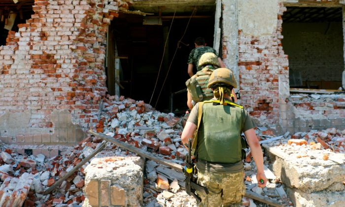 Many villages in eastern Ukraine have been reduced to ruins by fighting. (Nolan Peterson/The Daily Signal)