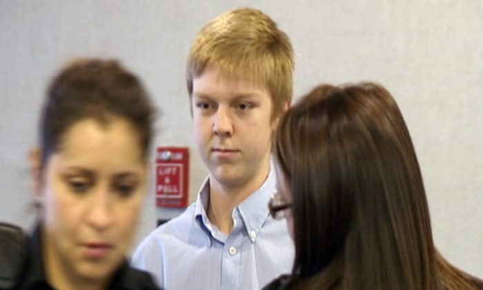"In this December 2013 image taken from a video by KDFW-FOX 4, Ethan Couch is seen during his court hearing in Fort Worth, Texas. Authorities are investigating whether Couch, who killed four people in a 2013 drunken-driving wreck, and claimed as part of his defense that he suffered from ""affluenza"", has fled with his mother to avoid a potential violation of his probation. (AP Photo/KDFW-FOX 4, File)"