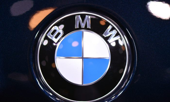 The BMW logo is seen during the 83rd Geneva Motor Show in Geneva, Switzerland, on March 5, 2013. (Harold Cunningham/Getty Images)