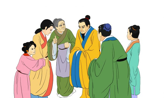 """People who received kindness pay honour to their benefactor. """"To have virtuous citizens who are kind to their neighbours, this is precious treasure for a country,"""" an ancient Chinese saying goes. (Zhiching Chen/Epoch Times)"""