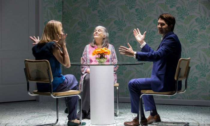 """(L–R) Tess (Lisa Emery), her mother Marjorie (Lois Smith) and Walter (Noah Bean), a computer who serves as a companion to Marjorie in """"Marjorie Prime.""""  (Jeremy Daniel)"""