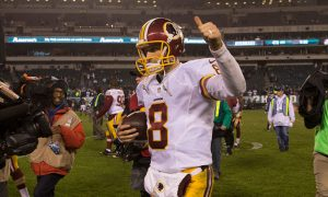 Watch: Kirk Cousins Makes Incredibly Bizarre Play and Meanwhile, Redskins Make Playoffs