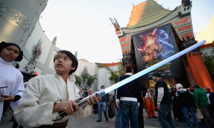 """The opening night of Walt Disney Pictures and Lucasfilm's """"Star Wars: The Force Awakens"""" at TCL Chinese Theatre in Hollywood on Dec. 17. (Kevork Djansezian/Getty Images)"""