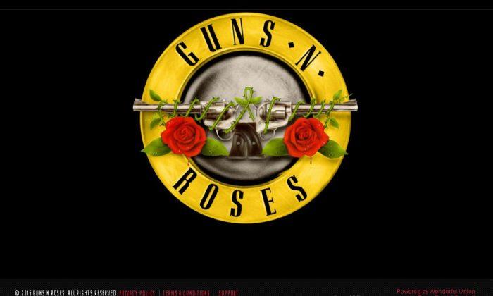 Screenshot from www.gunsnroses.com