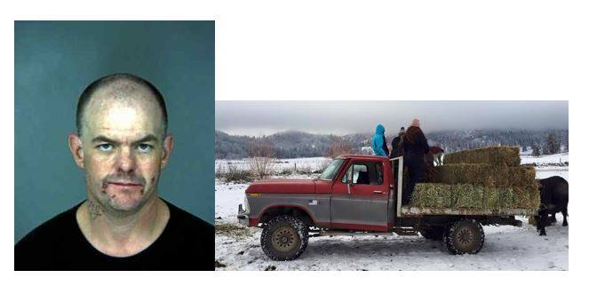Daniel Fidler and the truck he's associated with (Siskiyou Sheriff's Office)