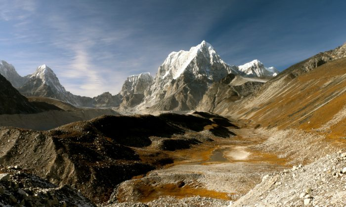 No one to help you here: The Himalayan wilderness looms over the way to the Nangpa La. (Nolan Peterson/The Daily Signal)