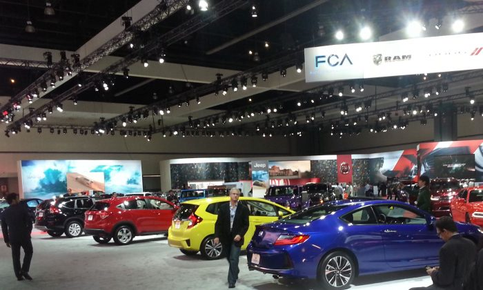 Brighter, more colorful hues were a theme of the LA Auto Show this year. (Nelly Wahl)
