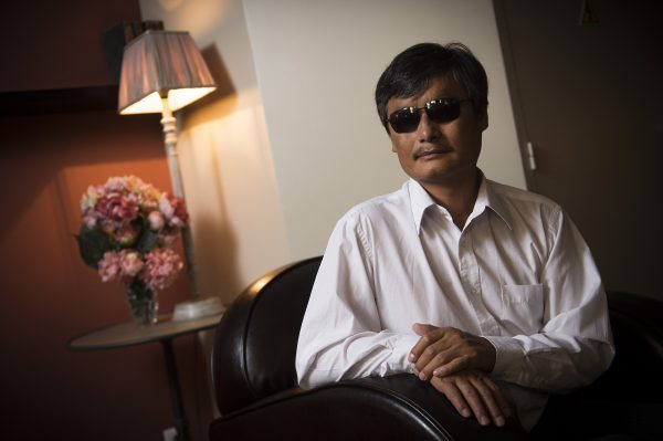 Chinese popular human rights activist Chen Guangcheng poses in Paris on Aug. 31, 2015. (Lionel Bonaventure/AFP/Getty Images)