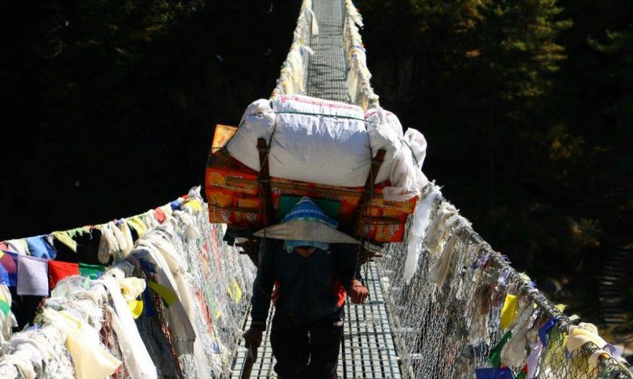 In Nepal's Khumbu region, all trade is conducted on the backs of porters and pack animals. (Nolan Peterson/The Daily Signal)