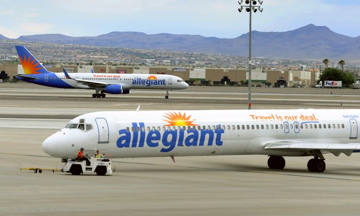An Allegiant Airlines plane in a file photo. (AP Photo/David Becker, File)
