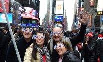 Throngs Usher in 2016 at Bash in New York's Times Square