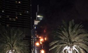 Video Shows Dubai's Address Skyscraper Hotel Engulfed in Massive Fire