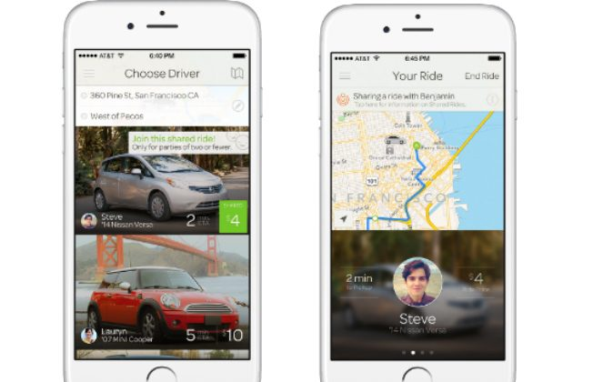 Images of the Sidecar ride-hailing app. The company announced it will shut down all operations as of Dec. 31, 2015. (Courtesy of Sidecar)
