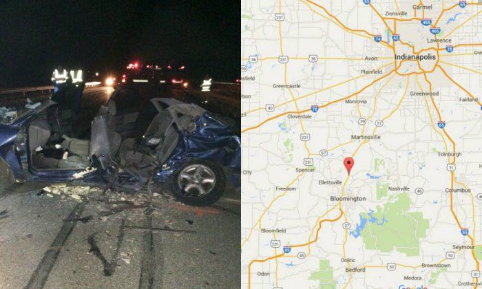 (Indiana State Police via AP / Google Maps)
