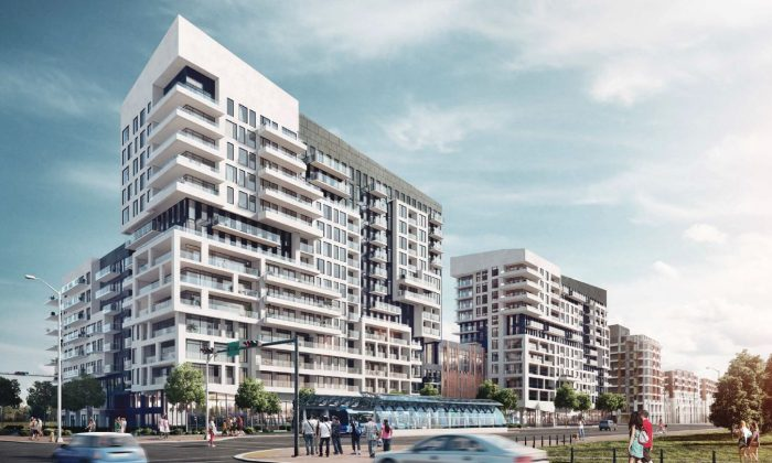 Rendering of York Condos, a new development by Remington Group located at Warden Avenue and Enterprise Blvd. in Downtown Markham. (Courtesy of Baker Real Estate Inc.)