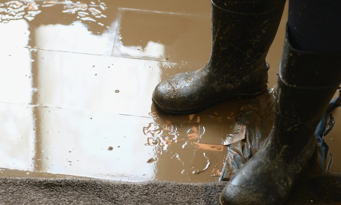 A stock photo of boots and mud (Michael B. Thomas/Getty Images)