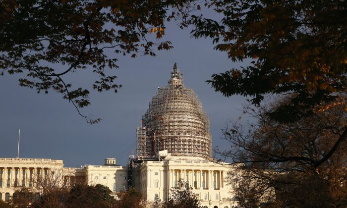 FILE - In this Nov. 22, 2015 file photo, The Capitol dome is seen on Capitol Hill. (AP Photo/Alex Brandon, File)