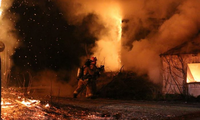 One of the fires in Fleetwood (Fleetwood Fire Company)