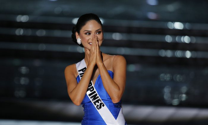 Miss Philippines Pia Alonzo Wurtzbach competes at the Miss Universe pageant Sunday, Dec. 20, 2015, in Las Vegas. (AP Photo/John Locher)