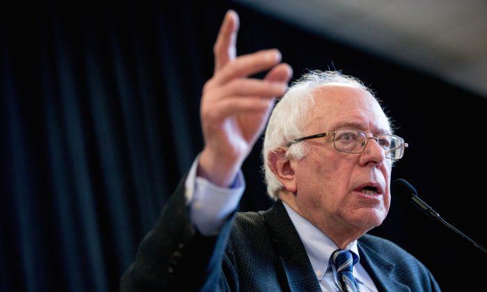 Democratic presidential candidate, Sen. Bernie Sanders (I-Vt.) in Knoxville, Iowa, on Dec. 31, 2015. (AP Photo/Andrew Harnik)