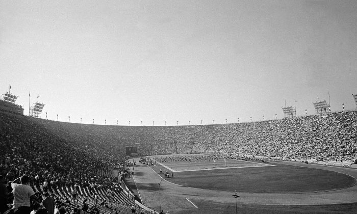 This is a general view of Los Angeles Coliseum during the Super Bowl, Jan. 15, 1967. (AP Photo)
