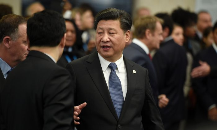 Chinese leader Xi Jinping in Le Bourget, outside Paris, on Nov. 30, 2015. (Martin Bureau/AFP/Getty Images)