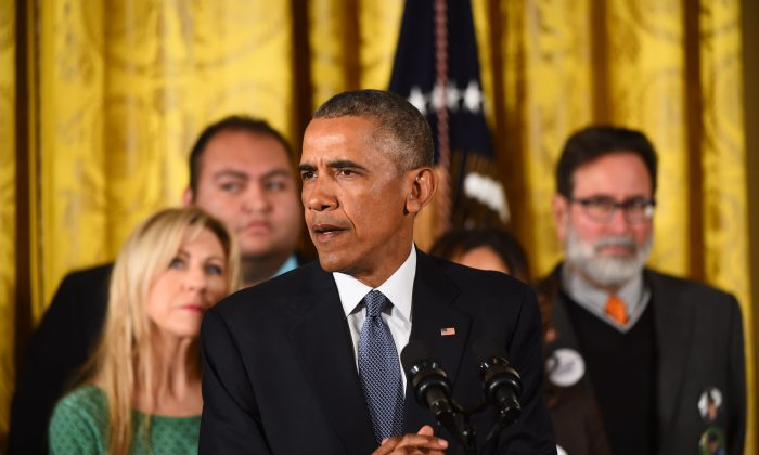 President Barack Obama delivers a statement on executive actions to reduce gun violence at the White House on Jan. 5, 2016. (Jim Watson/AFP/Getty Images)