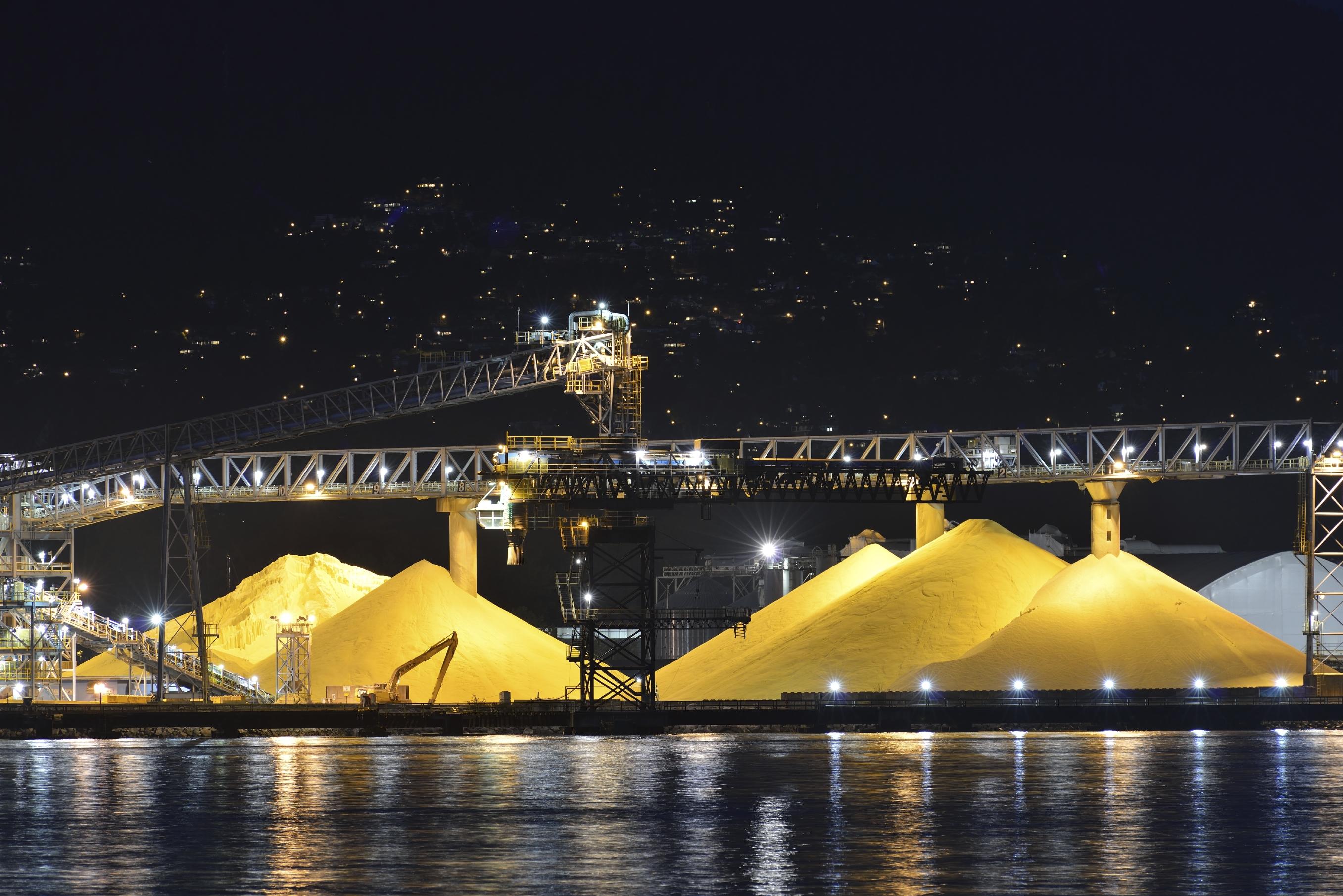 Sulfur Waste Pile