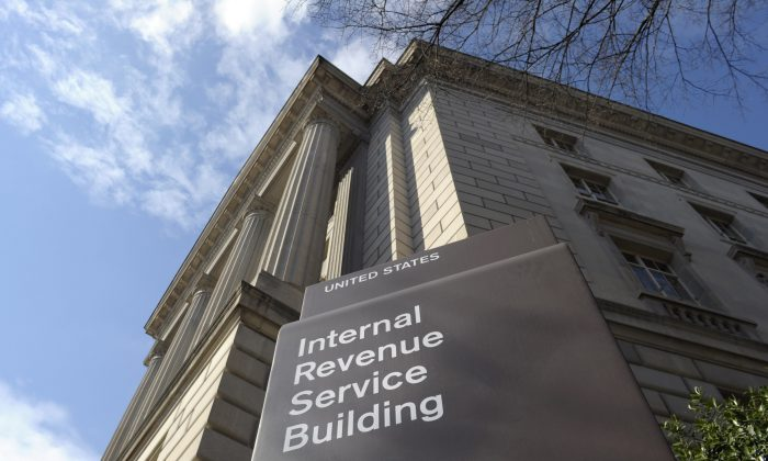 FILE - In this March 22, 2013 file photo, the exterior of the Internal Revenue Service (IRS) building in Washington. (AP Photo/Susan Walsh, File)
