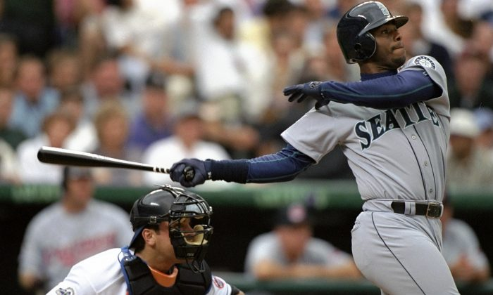 Ken Griffey Jr. hit 630 home runs and was named to 13 All-Star teams during his 22 seasons in the major leagues. (Brian Bahr/Allsport/Getty Images)