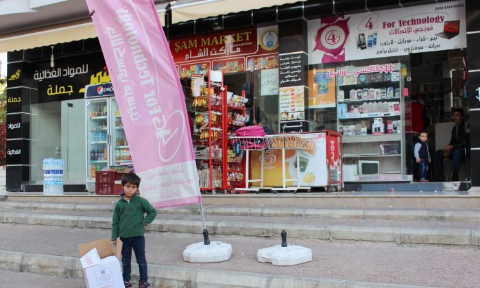 """Shops in Mezitli, a district that has turned into Mersin's """"Little Syria"""" especially for middle class and rich Syrian families, Mersin, Turkey, on Dec. 23, 2015. (Emel Akan/Epoch Times)"""