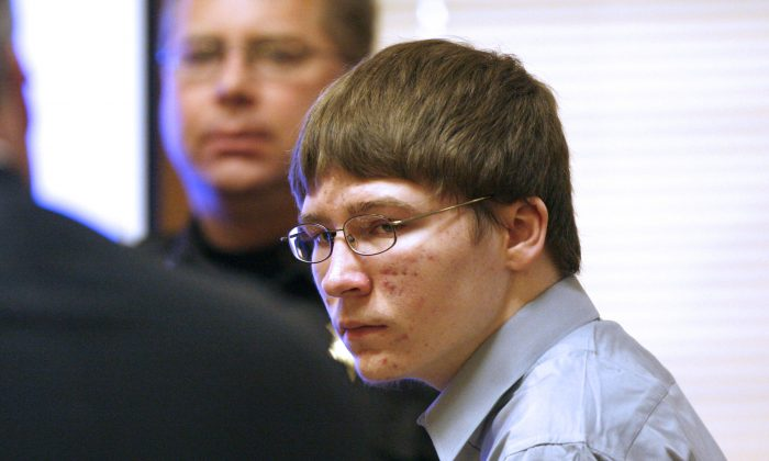 Brendan Dassey, who was convicted of murder and is currently serving a life sentence in prison, appears in court Monday, April 16, 2007, at the Manitowoc County Courthouse in Manitowoc, Wisconsin. (AP Photo/Dan Powers)