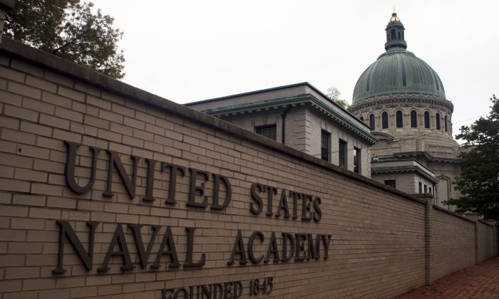 This May 10, 2007 file photo shows the U.S. Naval Academy in Annapolis, Md. (AP Photo/Kathleen Lange)