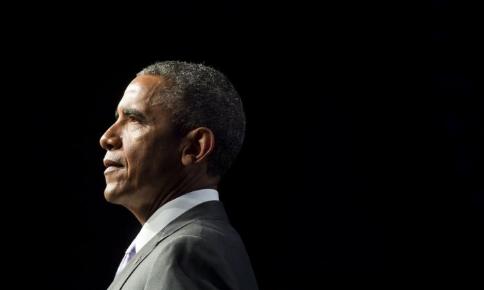 President Barack Obama speaks about healthcare reforms and the Affordable Care Act, known as Obamacare, during the Catholic Hospital Association Conference in Washington, D.C., on June 9, 2015. (Saul Loeb/AFP/Getty Images)