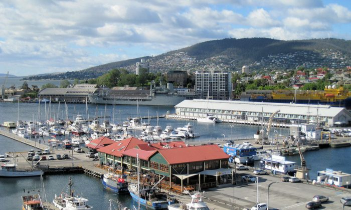 Hobart's Constitution Dock is the arrival point for yachts after they have completed the famous Sydney to Hobart Yacht Race. (Wlcutler/Wikimedia Comons)