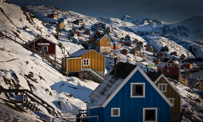 Kangaamiut, a small settlement about 75 minutes by boat from Maniitsoq in Greenland. (Mads Pihl/Visit Greenland)