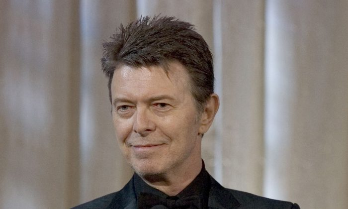 David Bowie attends an awards show in this June 5, 2007 file photo taken in New York. (AP Photo/Stephen Chernin)