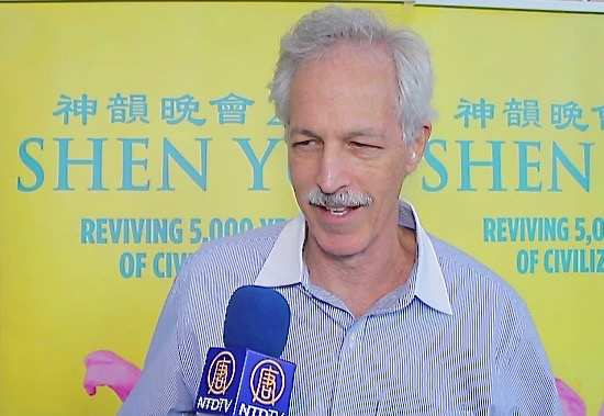 Steven, a mathematician, who attended Shen Yun Performing Arts on Saturday, Jan. 9, 2016, felt joy in the performance in Fort Lauderdale's Broward Center for the Performing Arts. (Courtesy of NTD Television)