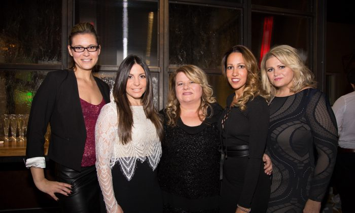 (L-R) In2ition Realty's VP of sales (Western Canada) Vesna Sola; director of sales Liana Pronio; president and CEO Debbie Cosic, VP of operations Lysha Lyn; and VP of design services Jackie Pezer-Lilic. (Courtesy of In2ition Realty)