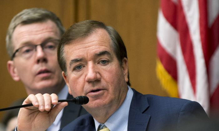 """House Foreign Affairs Committee Chairman Rep. Ed Royce (R-Calif.) speaks on Capitol Hill in Washington, D.C., on Jan. 7, 2016. The House isn't waiting for confirmation of North Korea's hydrogen-bomb test claim before voting on legislation that expands sanctions on Pyongyang and specifically seeks to deny the hard currency lawmakers say it needs for its weapons programs. Royce, the bill's author, described the Obama's administration's policy on North Korea as one of """"strategic patience"""" that has failed to curb its development of nuclear weapons and the long-range missiles to deliver them. (AP Photo/Manuel Balce Ceneta)"""