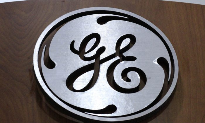General Electric logo at a store in Cranberry Township, Pa. (Gene J. Puskar/AP Photo)