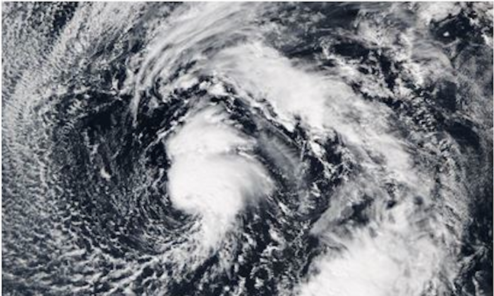 Imagery of Alex in the eastern Atlantic (National Oceanic and Atmospheric Administration)